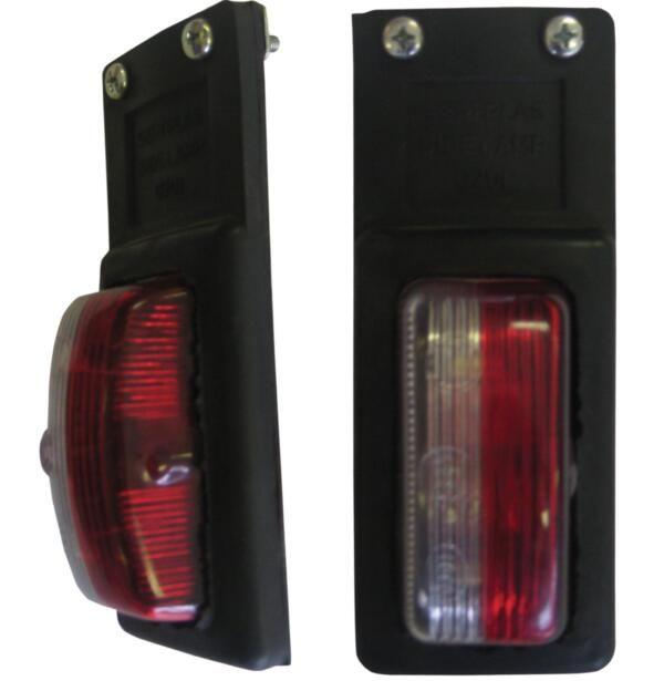 Hangende breedte lamp rood / wit