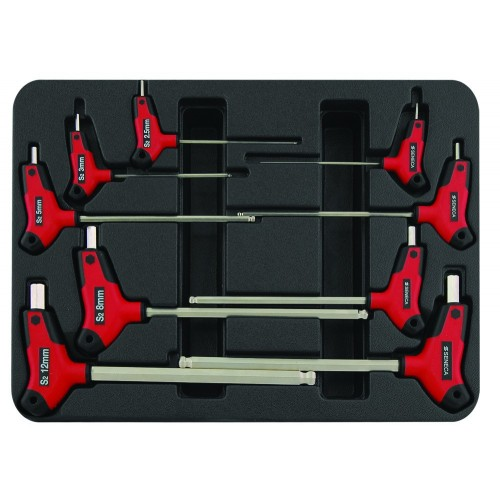 T-grip imbussleutel set
