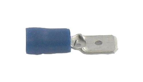 50x blauw half geïsoleerd recht mannelijk 4.8 mm