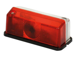 Breedtelicht rood/wit 12V rechthoek