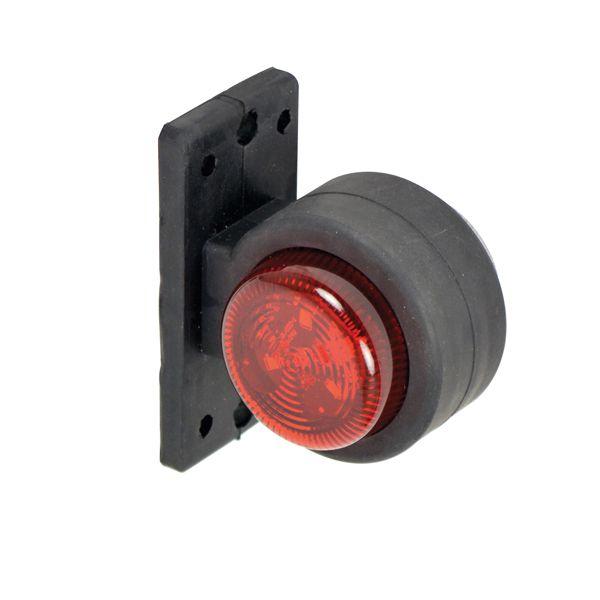 Breedtelicht rechts rood/wit 72mm