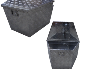 Opbergbox aluminium 83 x 47 x 49mm