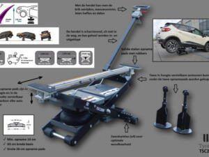 Mobiele mini lift 3200kg