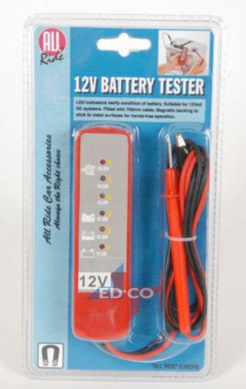 12 volt batterij tester