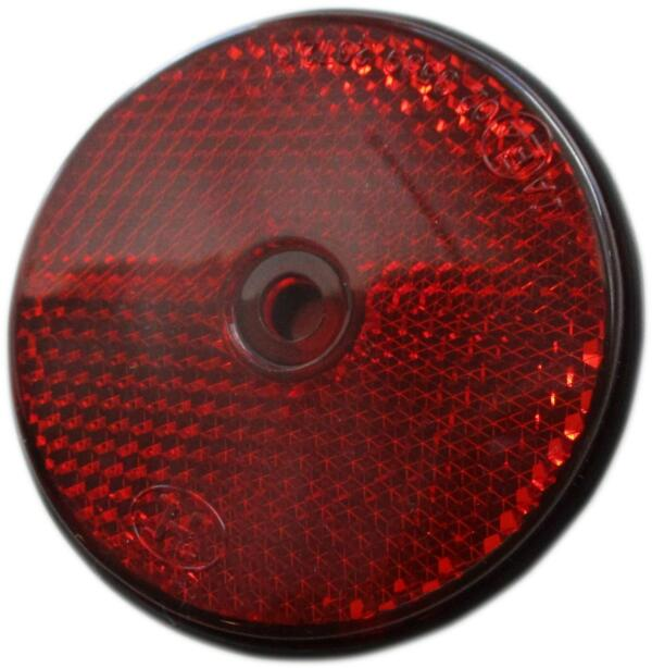 Reflector rond rood